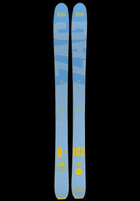 ZAG UBAC 102 LADY skis de freerando femme
